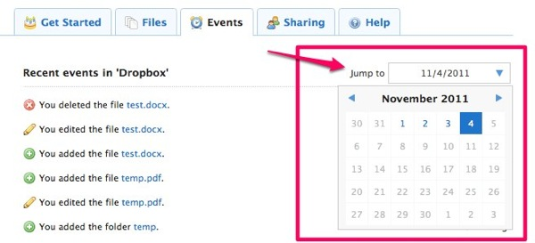 Dropbox  Recent Events  Simplify your life 1